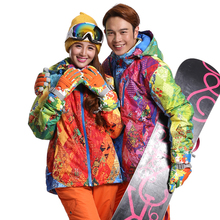 Top Quality Lover Snowboard Jacket Women Colorful Snowboard Jacket Waterproof Skiing Clothing Men Ski Jackets Wear Skee Coat