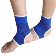 2 pcs Elastic Ankle Brace Support Pad Guard Achilles Tendon Sports Strap Foot(China)