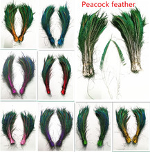 New! purple 10 pc quality natural peacock feathers, 12-16inches / 30-40cm DIY- wedding, living room, decorated flower vase
