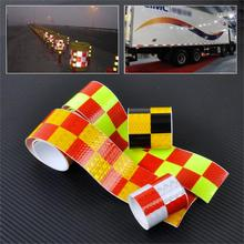 "5x300cm/2""x118"" Chequer Reflective Safety Warning Conspicuity Tape Marking Sticker for Industry Transport Construction Range"