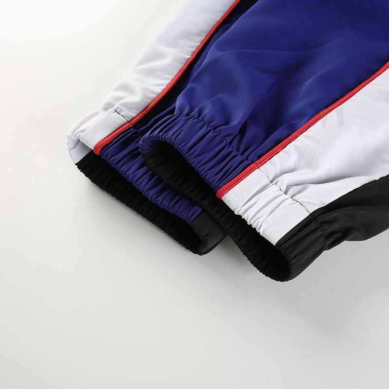 14Sweetown Woman Pencil Pants Casual Loose Pantalon Femme Spliced Panelled Joggers Women Woven Elastic High Waist Ladies Trousers