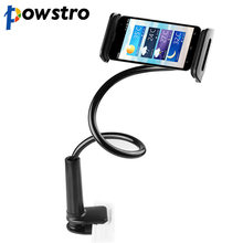 Powstro Flexible Desktop Phone Tablet Stand Holder For iPad Mini Samsung Iphone 3.5-10.5 inch Lazy Bed Tablet PC Stands Mount(China)