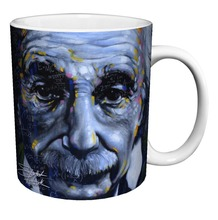 Albert Einstein It's All Relative Fine Decorative Art Porcelain Gift Coffee (Tea, Cocoa) 11 Oz. Mug Tea travel white mug