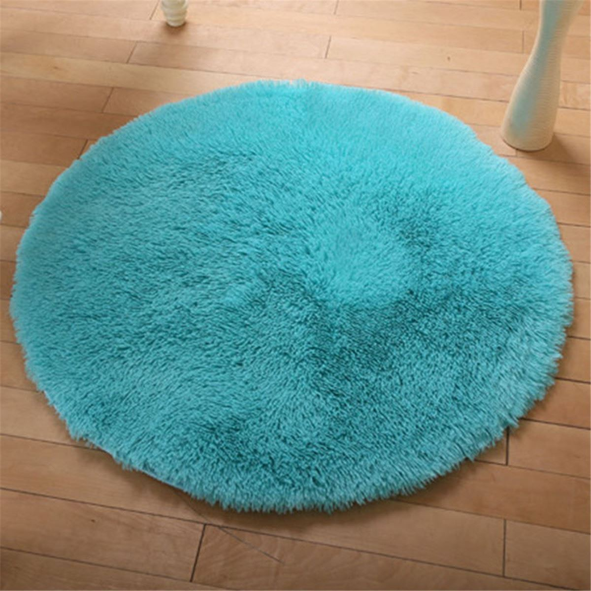 Fluffy Round Anti-Skid Floor Mats Carpet 40cm Shaggy Area Rug Door Floor Blanket Dining Room Bedroom Decoration Home Textiles(China)