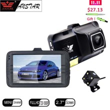 "ANSTAR 3"" Car DVR Camera Dashcam 170 Degree Dual Lens Rear View Camera Mirror Video Recorder Registrar Night Vision Car DVRS(China)"