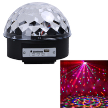 AC110-240V Remote Control USB Flash Drive/Bluetooth/MP3 Professional  LED Stage Magic Ball Lighting Lamp Lazer Projector US Plug