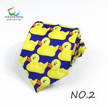 Duck Printed Design Polyester Ducky Tie Printed Professional Necktie How I Met Your Mother TV Show Yellow Rubber Duck Tie Gift(China)