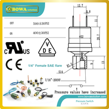 small size, lightness and high degree of protection cartridge pressure control for R410a with 500psi off and 400psi on
