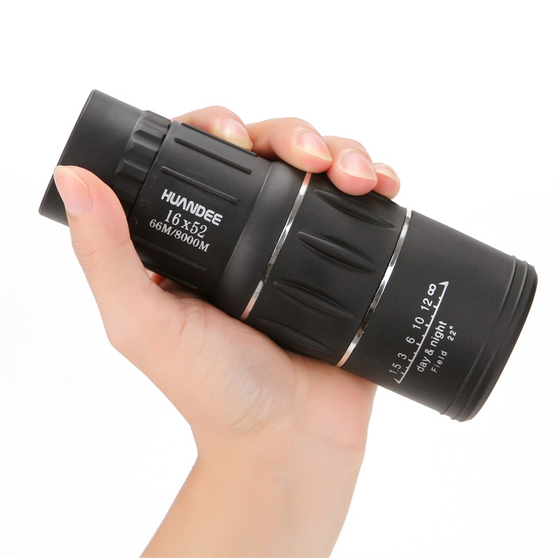 HUANDEE 16X52 Nitrogen waterproof all-optical green film monocular telescope for travel Hunting Monocular zoom HD Telescopes<br>