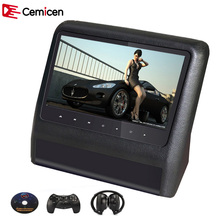 Cemicen 9 Inch Car Headrest Monitor DVD Player with USB/SD with HDMI 800*480 LCD Screen Backseat Displayer IR/FM with Remote