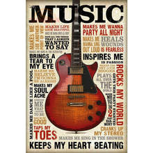 Custom New Arrival Guitar Music Poster Home Decor modern Wall Sticker For Bedroom Wall Poster CD&114