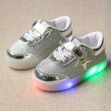 Buy 2016 New Autumn Toddler Brand Kids LED Luminous Sneakers Breathable Child Colorful Flashing Baby girls Sport Shoes light for $6.71 in AliExpress store