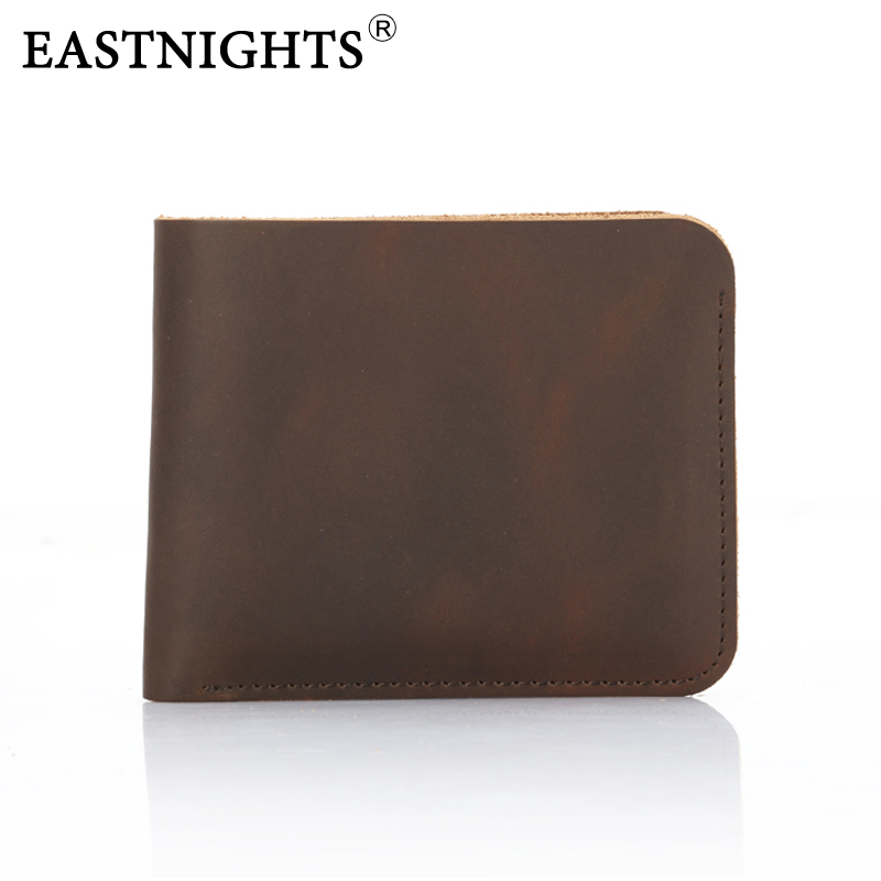 EASTNIGHTS  2016 New Arrival Vintage Leather Men Wallets crazy horse leather purse three colors billetera hombre  TW1644<br><br>Aliexpress