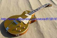 New! LP standard  gold top color, mahogany electric guitar , left hand style ,free shipping!