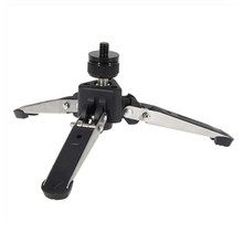 Universal Mini Camera Tripod 1/4 Screw Mount Adapter Stainless Steel Three Legs Stand Stabilizer Table Tops Portable Tripods