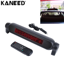 Car LED Display Scrolling Moving Message text display Infrared remote controller LED Brake Light scrolling display LED Parking(China)