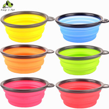 Silicone Gel Pet Bowl Folding Portable Dog Bowls Wholesale For Feed The Cat Drinking Water Bowls Free Shipping