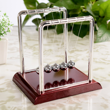 Educational Newton's Cradle Fun Steel Balance Ball Physics Science Pendulum Fun Development Kids Toys for Children Games Gifts(China)