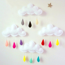 1 pcs wall sticker Clouds Rain Picturing Accessories Photograph Props kid bedroom Home Decoration Festival Gift S2(China)