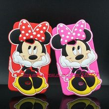 Hot 3D Silicon Minnie Mickey Smile Face Cartoon Soft Phone Back Skin Cover Case for Nokia Lumia 625 N625