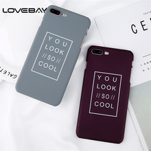 Buy Lovebay Fashion Letter Print Phone Case iPhone X 8 7 6 6s Plus 5 5s SE Simple Frosted Hard PC Back Cover Cases iPhone 8 for $1.09 in AliExpress store