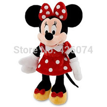 Minnie Red Dress Plush For Girls 19'' 48CM  Kids Baby Stuffed Toys Children Christmas Gifts