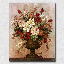 Modern wall painting canvas flower prints decorative fashion bedroom wall bset gift for clients(China)