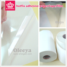 Hot Fix Paper & Tape 5M length/ Lot, 32CM Wide Adhesive Iron Heat Transfer Film Super Quality Acrylic rhinestone DIY Tools Y2642