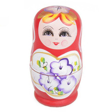 New  5pcs Novelty Russian Nesting Wooden Matryoshka Doll Set Hand Painted Decor Russian Nesting Dolls Baby Toy Girl Doll