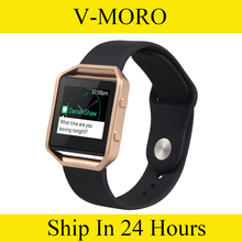 V-MORO  M/L Soft Silicone Replacement Sport Strap Band+Metal Frame with Quick Release Pins for Fitbit Blaze Tracker