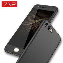 ZNP Luxury 360 Degree Full Body Protection Cover Cases For Huawei P10 Lite P10 plus With glass Case for Huawei P9 Lite P9 Case