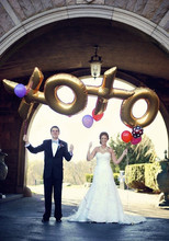 "Biggest Size 40"" Silver/Gold Alphabet X O Letters Balloon Wedding Party Decoration Happy New Year Decoration high Quality"