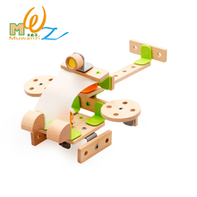 Wooden Blocks Bricks Building Sets Kit Model Helicopters Plane Robot Educational Assemble Toy Gift For Children Kids Boys Girls(China)