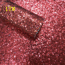 synthetic PVC chunky red glitter leather fabric for shoes material sale by yard 91CM*137CM(China)