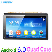 LEEWA New 7inch Ultra Slim Android 6.0 Car Media Player With GPS Navi Radio For Nissan/Hyundai All 2DIN ISO Size Car Head Unit(China)