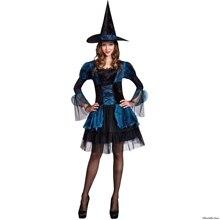 Сексуальная ведьма костюм для Хэллоуина Косплей Костюм с дьявол установлен(China)