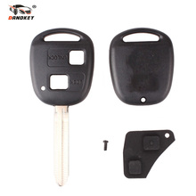 DANDKEY Replacement Uncut Blank Remote Key Shell Case for Toyota Avensis Yaris Auris 2/3 Buttons Key Cover +Button Pad(China)