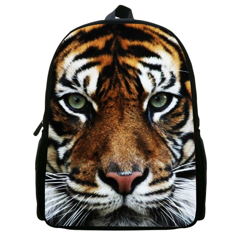 2015 New 12 Inch printing tiger animal babys school bags for Children travel backpack for girls student bag bookbag for kids 039<br><br>Aliexpress