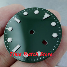 31.3mm green sterial dial super luminous white marks Watch Dial for Mingzhu 2813 Movement D23