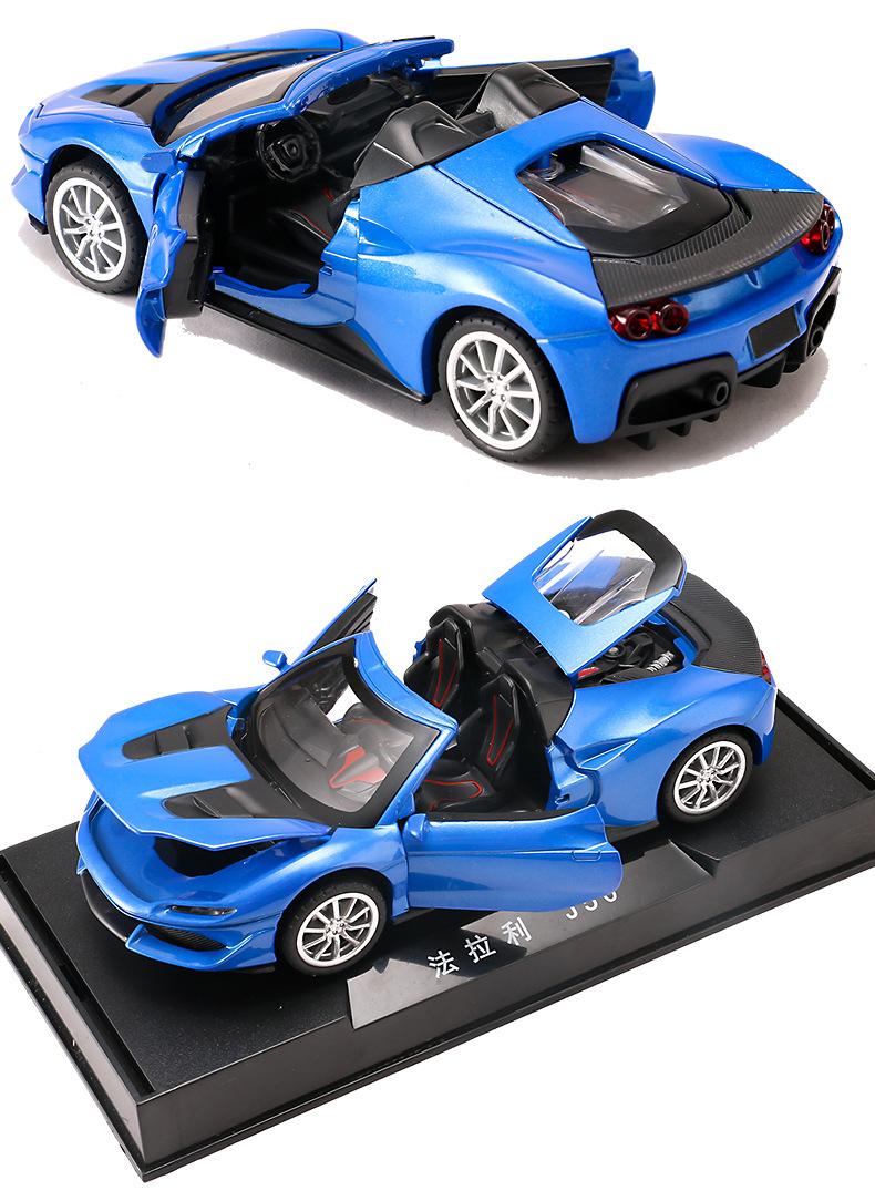 Legierung Auto ZurüCkziehen Diecast Modell Spielzeug Sound Licht Sammlung B S1I8