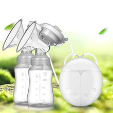 Buy Double Side Silicone Breast Pump, Portable USB Electric Breast Pump, Breastfeeding Accessory, Massage Breast Pump Nipple Sucker