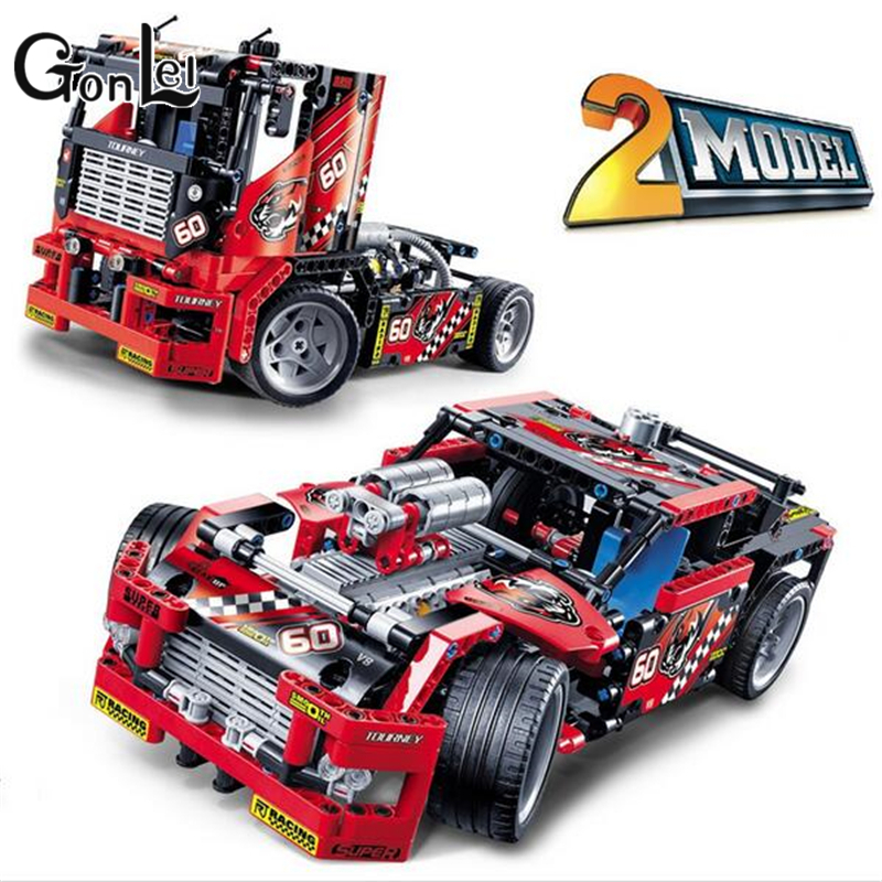 Decool 3360 Technic DIY Race Truck Blocks Bricks Toys Boy Game Model Car Gift Compatible with Lepin<br>