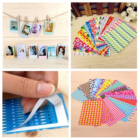 20 Pcs/bag Photo Stickers Colorful DIY Albums Scrapbook Photos Frame Decorative Mini Film Souvenir Home Decor