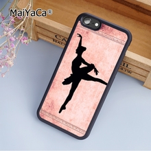 Hot MaiYaCa Pink Ballet Dancer fashion soft mobile cell Phone Case Cover For iPhone 6 6S Plus Custom DIY cases luxury shell(China)