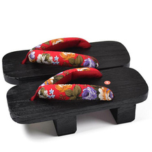 Best Selling Summer Slippers Women Casual Slippers Square Toe Japanese Geta High Heels Female Wooden Slippers Size 36-40