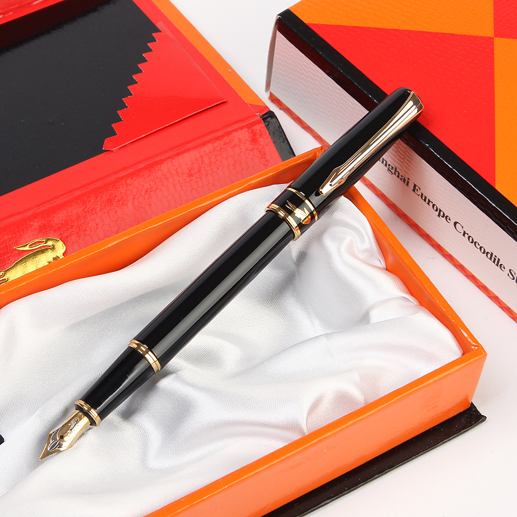 European Crocodile 310 Luxury Metal Fountain Pen with 0.5mm Nib Iridium/Gift Pens Free Shipping Student Stationery<br>