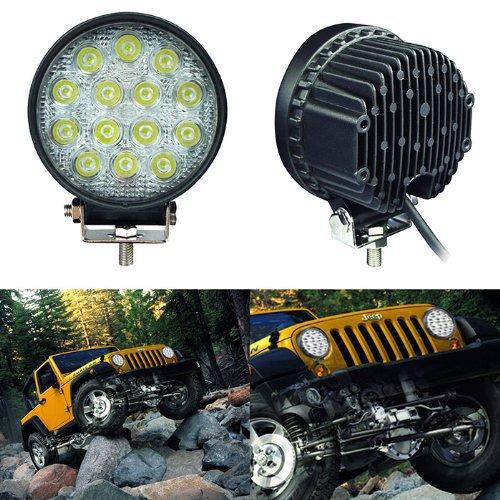 Hot sale 42w  LED work light  offroad driving light spot beam 4x4 cross country Car Truck OffRoad Fog lamp <br><br>Aliexpress