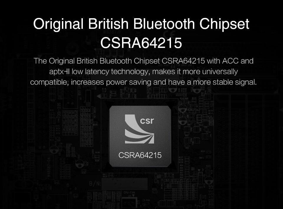 August MR230 Bluetooth 4.2 Wireless Audio Receiver aptx Low Latency
