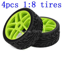 4PCS RC 1/8 Off-road Car Star Hub Grip Grain Tires Good Abrasion Resistance(China)