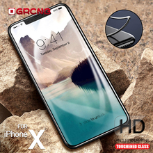 Buy 3D Round Curved Edge 9H Tempered Glass iPhone 6 6s 7 8 Plus Full Cover Protective Film iPhone X Screen Protector Glass for $1.23 in AliExpress store